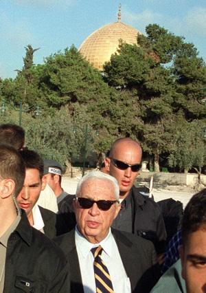 Ariel Sharon látogatása a Templom Dombon 2000. szeptember 28-án