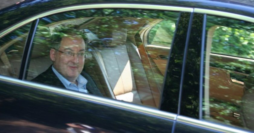 Rachman arriving to Bilderberg Conference