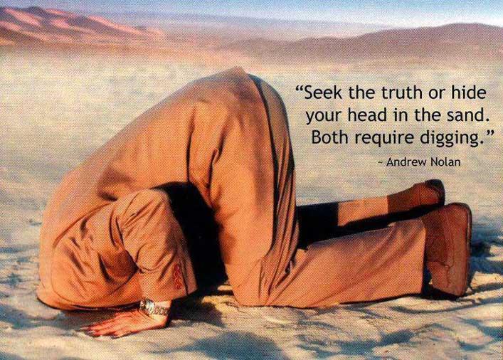 ?Keresd az igazságot vagy dugd a fejed a homokba. Mindkettőhöz ásni kell.?
