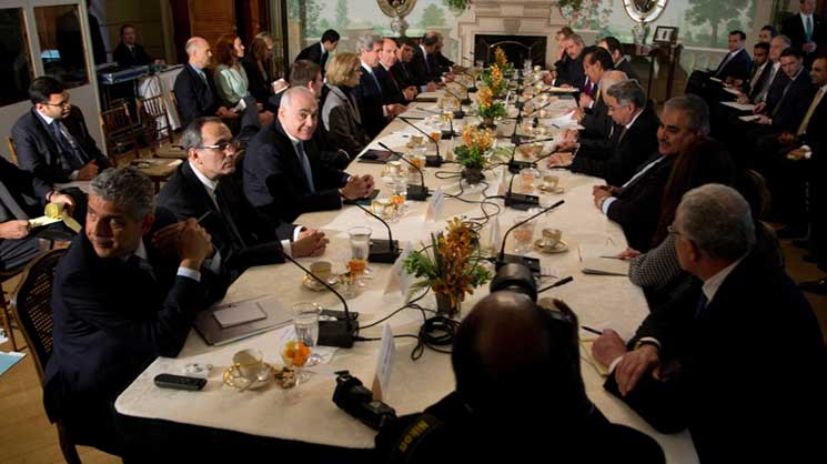 John Kerry az Arab Liga vezetőkkel tárgyal (AP photo)