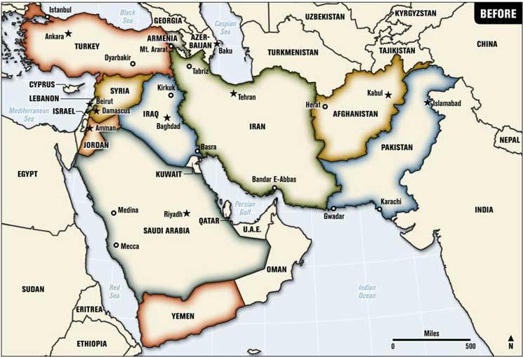 közel kelet térkép Káoszból rend a közel keleten – Közel Keleti Unió? – Idők jelei közel kelet térkép