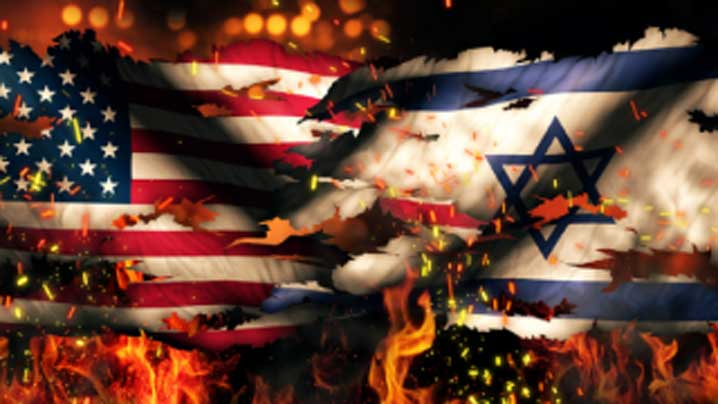 Usa-Israel-National-Flag-War