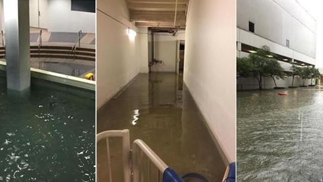 Víz alatt a Lakewood Chruch