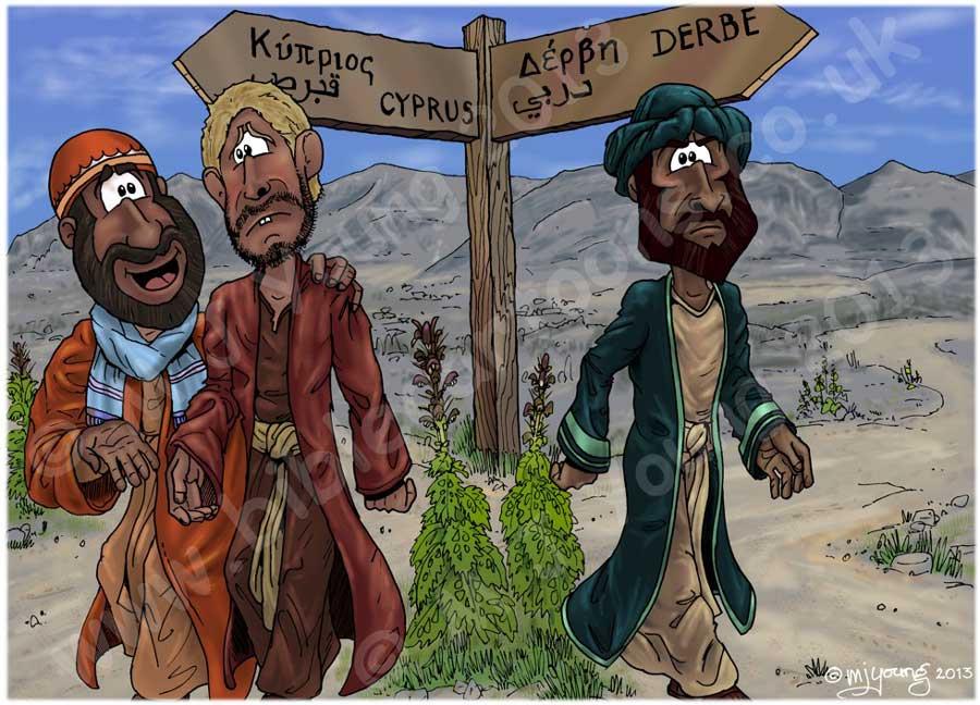 """Néhány nap múlva pedig ezt mondta Pál Barnabásnak: """"Térjünk vissza, látogassuk meg a testvéreket valamennyi városban, ahol hirdettük az Úr igéjét, és lássuk: hogy megy a soruk?"""" Barnabás azt akarta, hogy vigyék magukkal Jánost is, akit Márknak hívtak. Pál azonban úgy tartotta helyesnek, hogy ne vigyék magukkal azt, aki elvált tőlük Pamfiliánál, és nem ment velük együtt a munkába. – Ap. Csel. 15:36-38"""